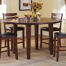 <strong>Liberty Furniture</strong> Chili Pepper Lazy Susan Pub Table in Cayenne Cherry