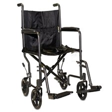 "Economy Steel 19"" Lightweight Bariatric Transport Wheelchair"