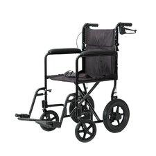 Lightweight Aluminum Transport Chair with Rear Cable Hand Brakes