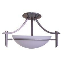 Sierra Point 2 Light Semi Flush Mount