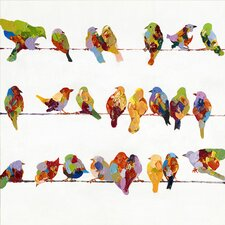 Revealed Artwork Birds on a Wire II Original Painting on Canvas