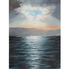 Revealed Artwork Ocean Rising Painting Print on Canvas