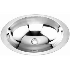 <strong>Yosemite Home Decor</strong> Stainless Steel Oval Drop-In Bathroom Sink