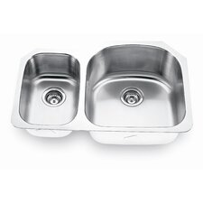 "31.5"" x 20.63"" Undermount Double Bowl Kitchen Sink"