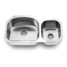 "<strong>Yosemite Home Decor</strong> 31.88"" x 17.75"" Undermount Double Bowl Kitchen Sink"