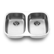 "29.13"" x 18.5"" Undermount Double Bowl Kitchen Sink"