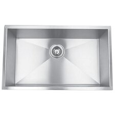 "32"" x 18.88"" Undermount Single Square Bowl Kitchen Sink"