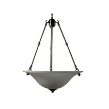 <strong>Yosemite Home Decor</strong> Bridal Veil 3 Light Foyer Inverted Pendant