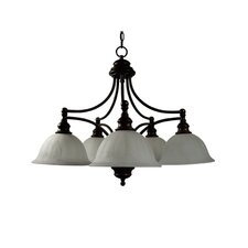 <strong>Yosemite Home Decor</strong> Broadleaf 5 Light Chandelier