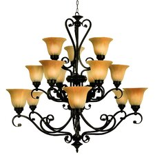 <strong>Yosemite Home Decor</strong> Florence 15 Light Chandelier