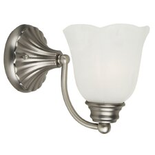 <strong>Yosemite Home Decor</strong> Mahogany 1 Light Wall Sconce