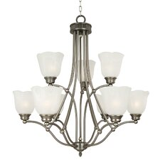 <strong>Yosemite Home Decor</strong> Mahogany 9 Light Chandelier