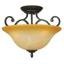 <strong>Yosemite Home Decor</strong> Royal Arches 3 Light Semi Flush Mount