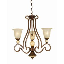 <strong>Yosemite Home Decor</strong> Alina 3 Light  Chandelier