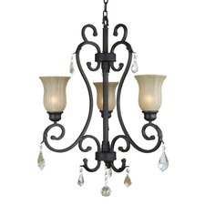 <strong>Yosemite Home Decor</strong> Jessica 3 Light  Chandelier
