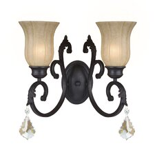 <strong>Yosemite Home Decor</strong> Jessica 2 Light Wall Sconce
