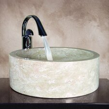 Kendra Hand Carved Round Vessel Bathroom Sink