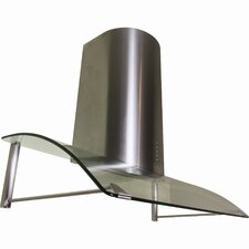 "Contemporary Series 36"" Stainless Canopy Range Hood with LED Lighting"