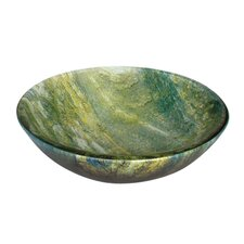 Ocean Green Round Glass Bathroom Sink