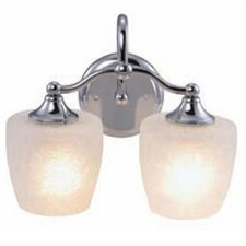 <strong>Yosemite Home Decor</strong> 2 Light Bath Vanity Light