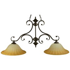 <strong>Yosemite Home Decor</strong> Florence 2 Light Kitchen Pendant