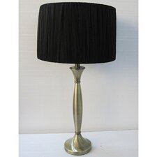 "Narrow Base 1 Light Portable 28.5"" H Table Lamp with Drum Shade"