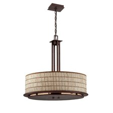 <strong>Yosemite Home Decor</strong> Sorrel 4 Light Drum Foyer Pendant