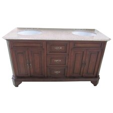 "Traditional 60"" Bathroom Vanity Set"