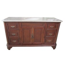 "Traditional Single 60"" Bathroom Vanity Set"