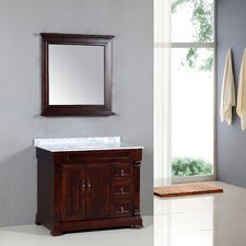 "Transitional 39"" Single Standard Bathroom Vanity Set"