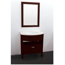 "Transitional 27.5"" Single Standard Bathroom Vanity Set"