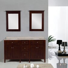 "Transitional 60"" Double Standard Bathroom Vanity Set"