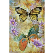 Revealed Art Butterfly Garden II Original Painting on Canvas