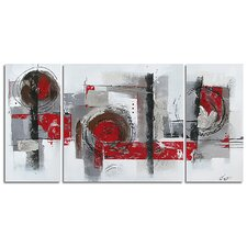 Contemporary & Abstract Art Collaboration Original Painting on Canvas