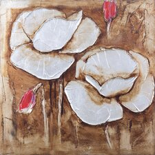 New Revealed Art White Flower II Original Painting on Canvas
