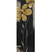 New Revealed Art Yellow Star Bloom II Original Painting on Canvas