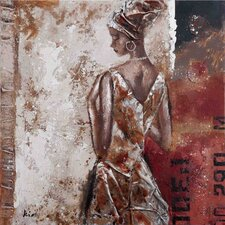 New Revealed Art Industrial Headwrap Original Painting on Canvas