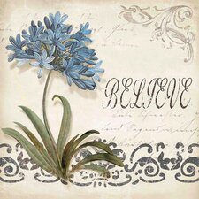 <strong>Yosemite Home Decor</strong> Cerulean Agapanthus Canvas Art
