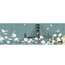 New Revealed Art Golden Gate Bridge II Graphic Art on Canvas