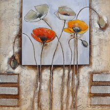 Revealed Art Poppies for You I Original Painting on Canvas