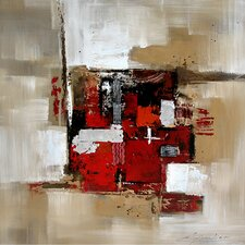 Contemporary & Abstract Art Seeing Red Original Painting on Canvas