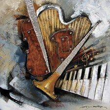 Contemporary & Abstract Art Instruments Original Painting on Canvas