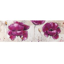 Purple Burst I Canvas Art