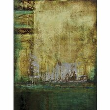 New Revealed Art Emerald Tranquility I Original Painting on Canvas