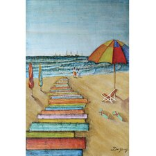 New Revealed Art Down by the Sea Original Painting on Canvas