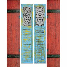 New Revealed Art Shutters 4 Piece Original Painting on Canvas Set