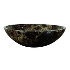 <strong>Yosemite Home Decor</strong> Karisma Hand Carved Round Vessel Bathroom Sink