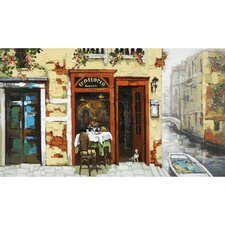 Venitian Canal Hand Painted Wall Art