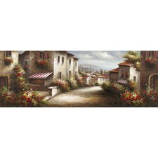Revealed Artwork European Village II Original Painting on Canvas