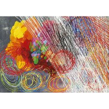 <strong>Yosemite Home Decor</strong> Cyclonic Abstraction II Hand Painted Wall Art